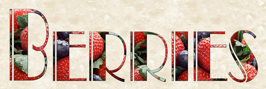 Strawberries Photograph - The Word Is Berries  by Andee Design