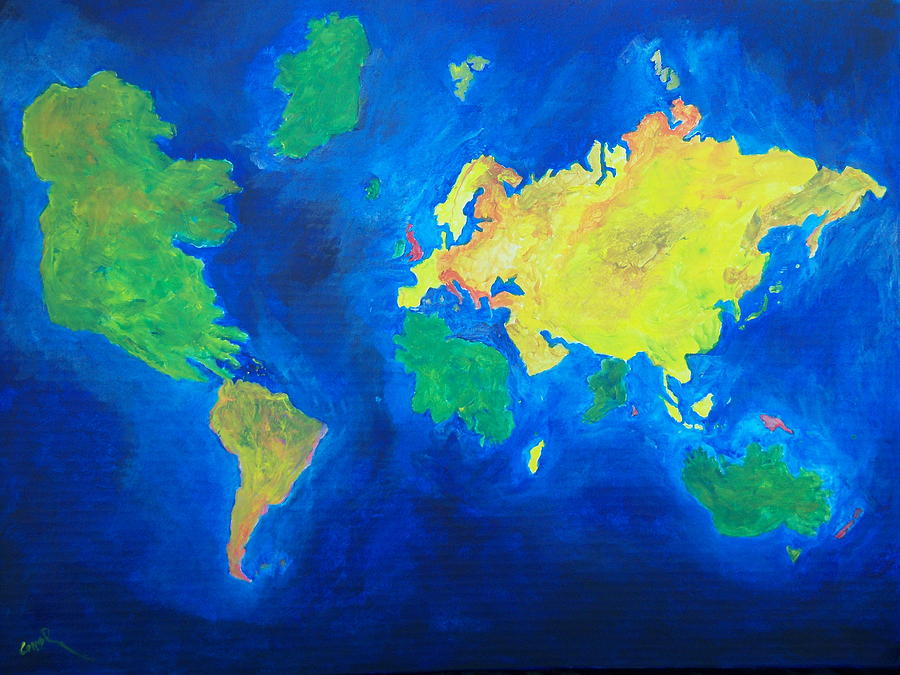Ireland Painting - The World Atlas According To The Irish by Conor Murphy