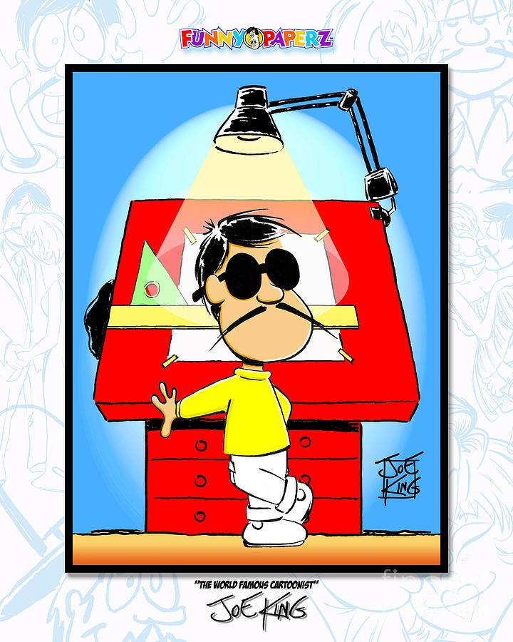 World Mixed Media - The World Famous Cartoonist by Joe King