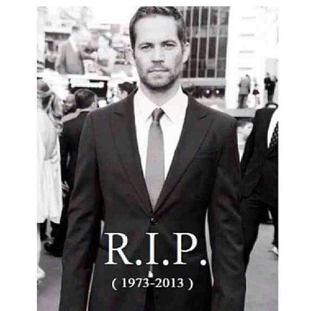 Fastandfurious Photograph - The World Lost A Great Actor Today by Louis Godefroy