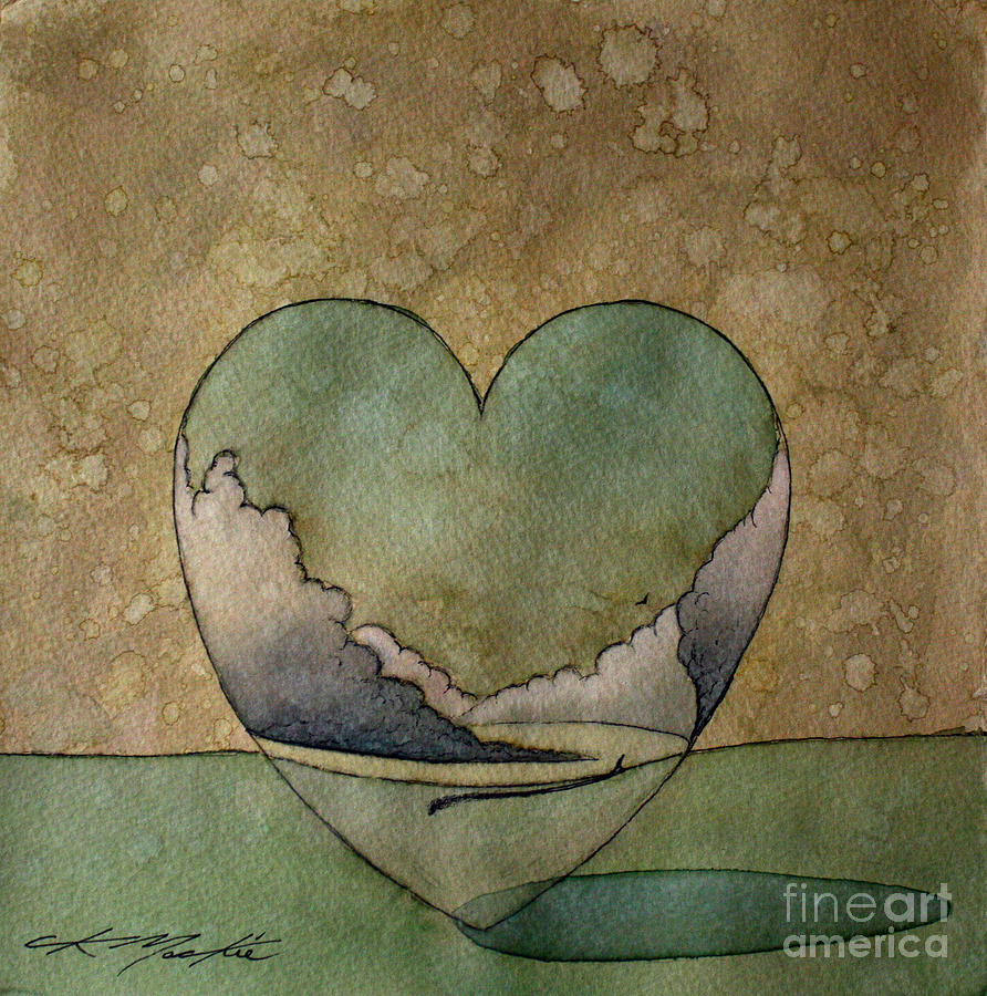 Heart Painting - The World That I Know by Chris Mackie