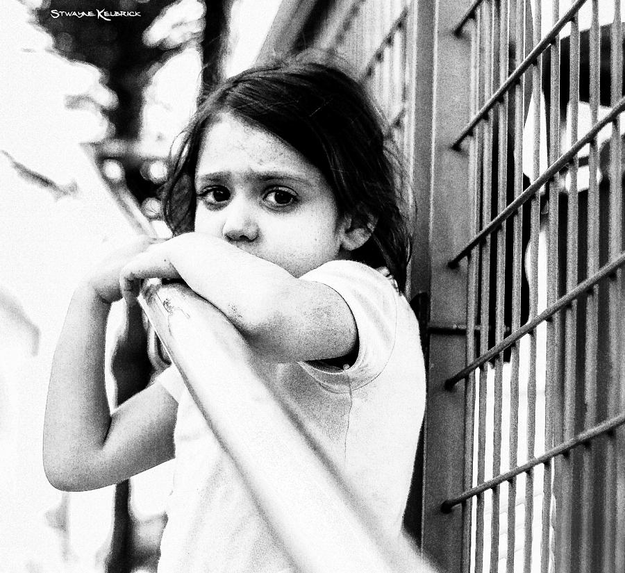 Black And White Photograph - The worried little girl by Stwayne Keubrick