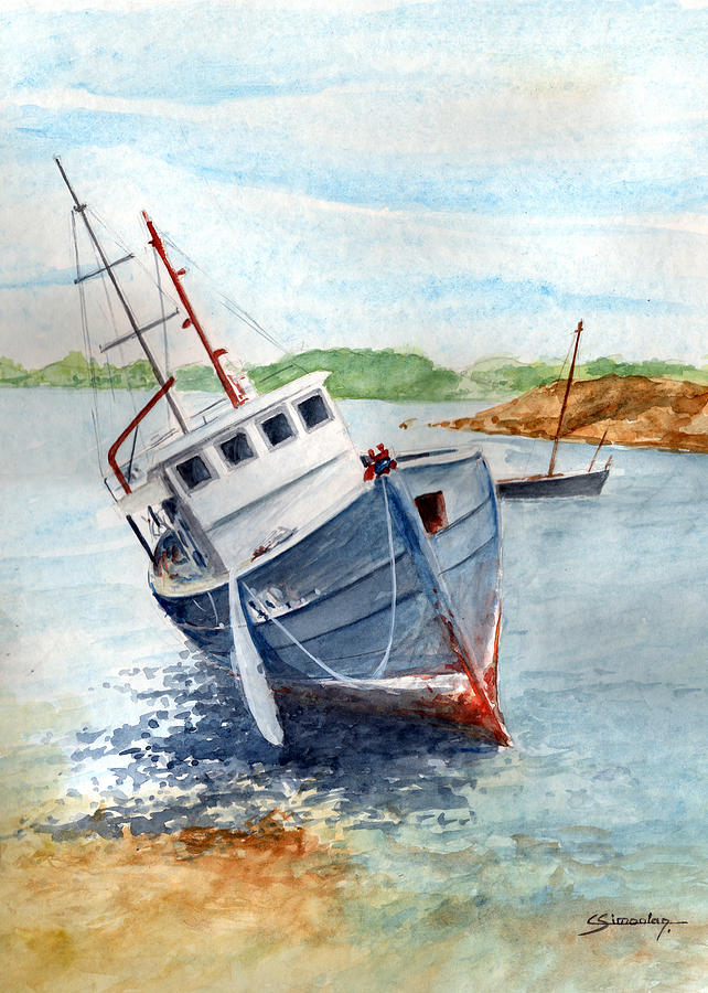 Wreck Painting - The Wreck by Christian Simonian