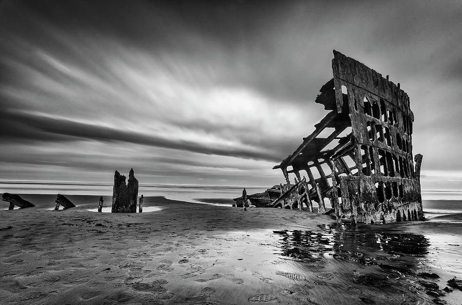 Shipwreck Photograph - The Wreck Of The Peter Iredale by Lydia Jacobs