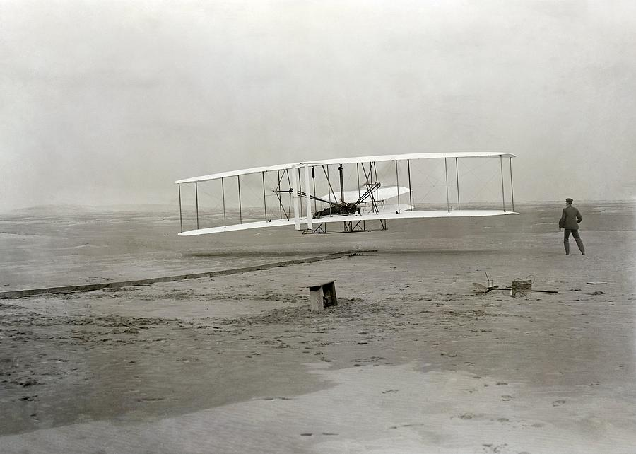 Human Photograph - The Wright Brothers First Powered by Science Photo Library