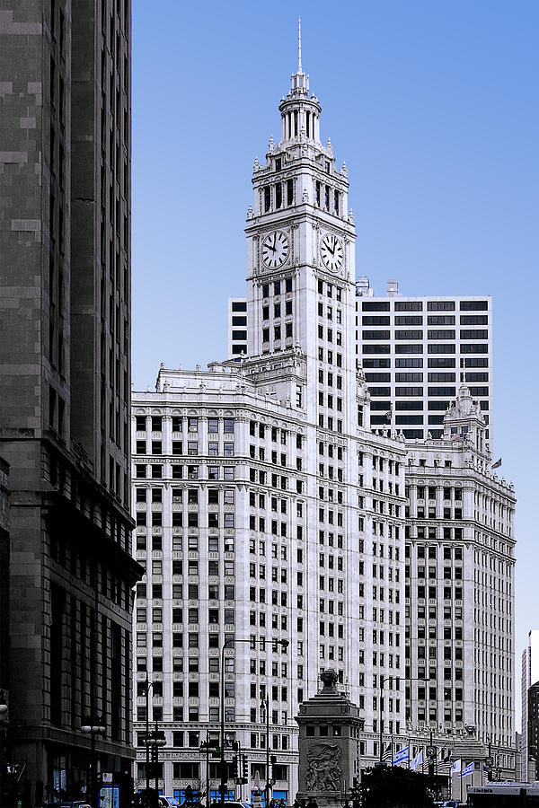 Chicago Photograph - The Wrigley - A Building That Is Pure Chicago by Christine Till
