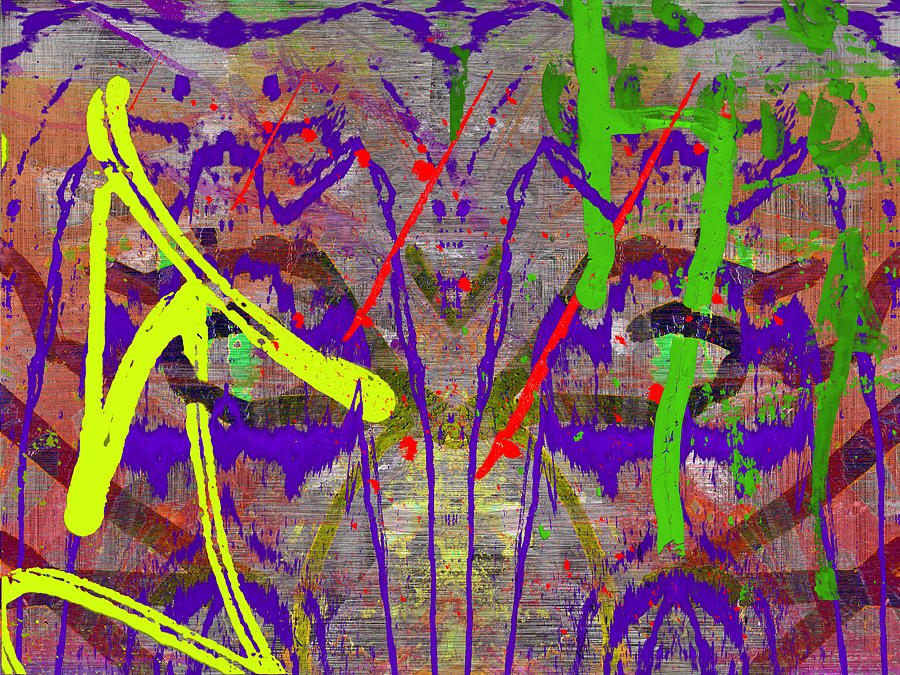 Abstract Digital Art - The Writing On The Wall 14 by Tim Allen