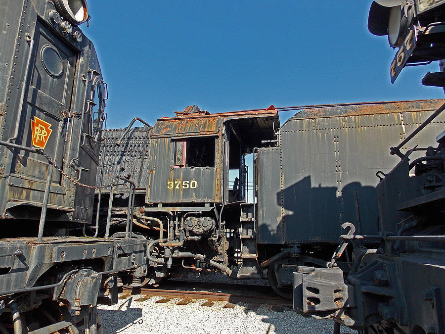 Railroad Track Photograph - The Yards by Skip Willits