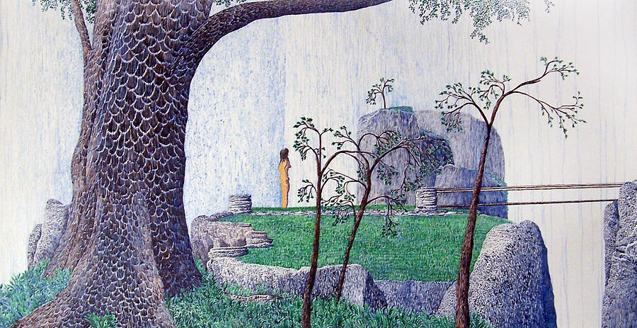 Landscape Painting - The Yearning Tree by A  Robert Malcom
