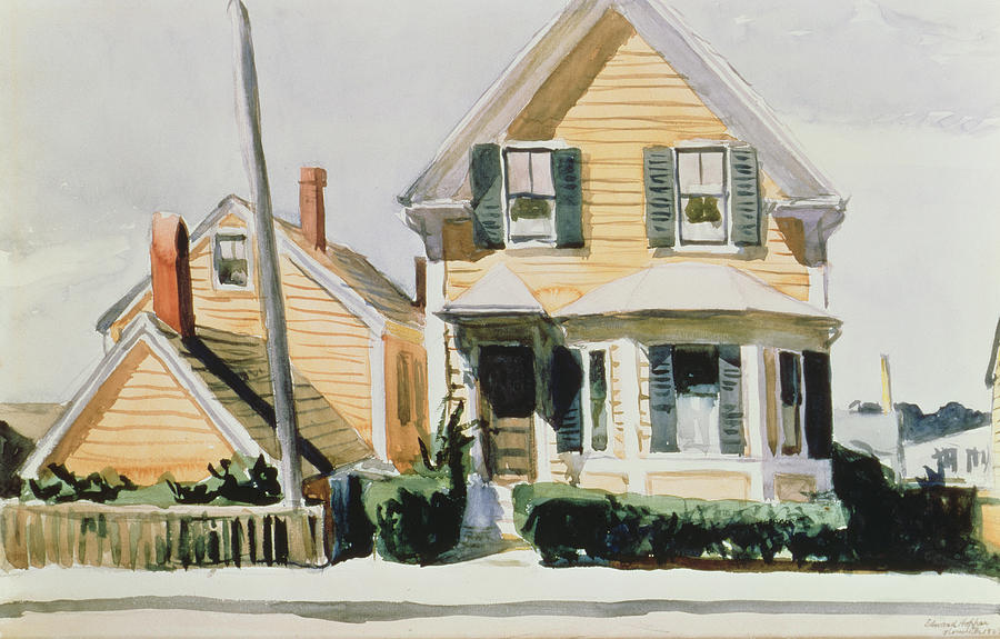 Edward Hopper Painting - The Yellow House by Edward Hopper