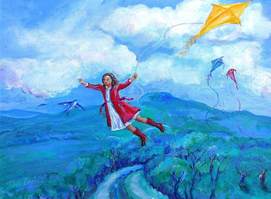 The Yellow Kite Painting By Trudi Doyle