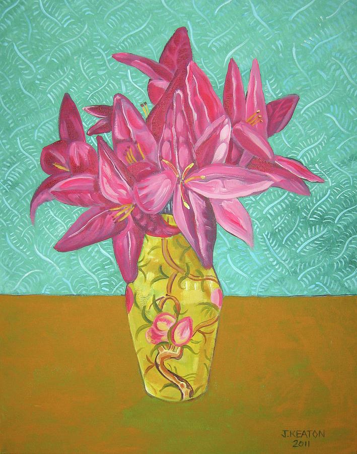 Still Life Painting - The Yellow Vase by John Keaton