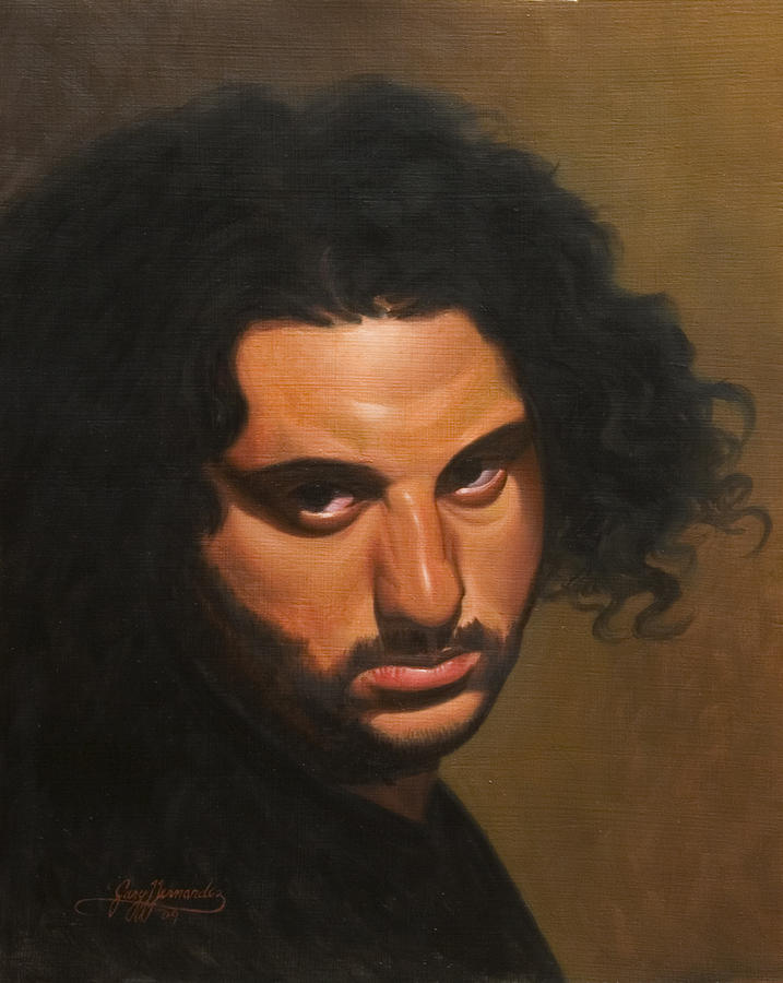 Portrait Painting - The Young Italian by Gary  Hernandez