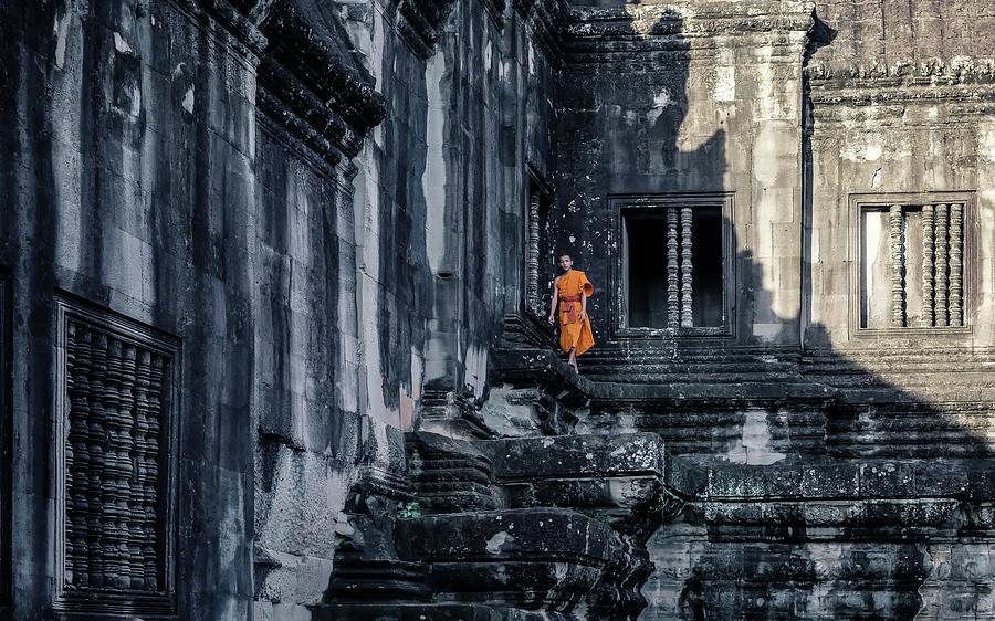 Cambodia Photograph - The Young Monk by Gloria Salgado Gispert
