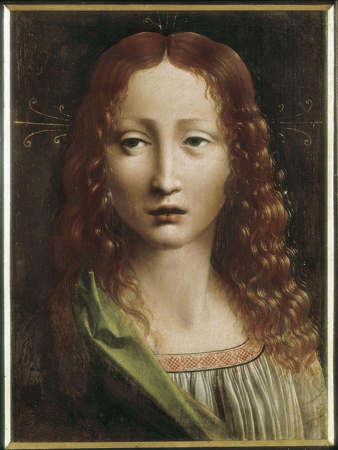 Portrait Photograph - The Young Saviour. 15th C. - 16th C by Everett