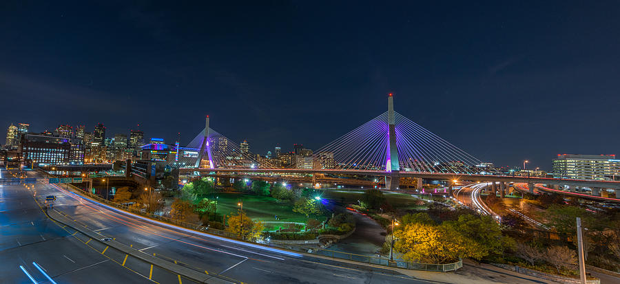 Boston Photograph - The Zakim Bridge by Bryan Xavier