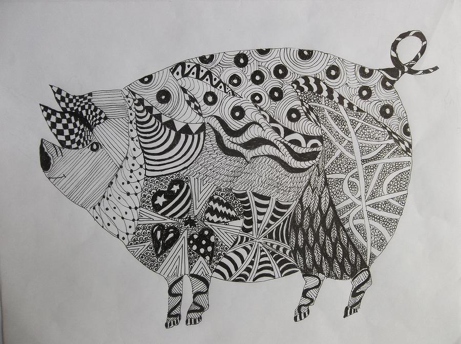 The Zen Pig by Audrey Bunchkowski