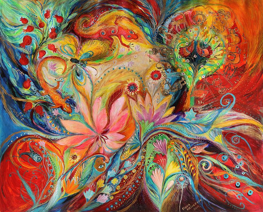 Jewish Art Prints Painting - The Zodiac Signs by Elena Kotliarker