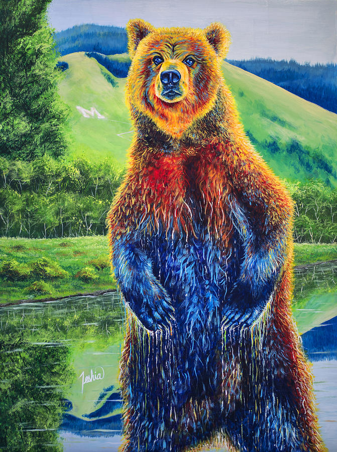 Missoula Painting - The Zookeeper - Special Missoula Montana Edition by Teshia Art