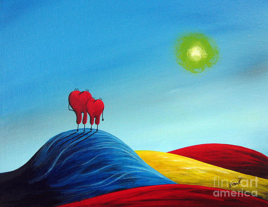 Hearts Painting - Their Happy Place By Shawna Erback by Shawna Erback