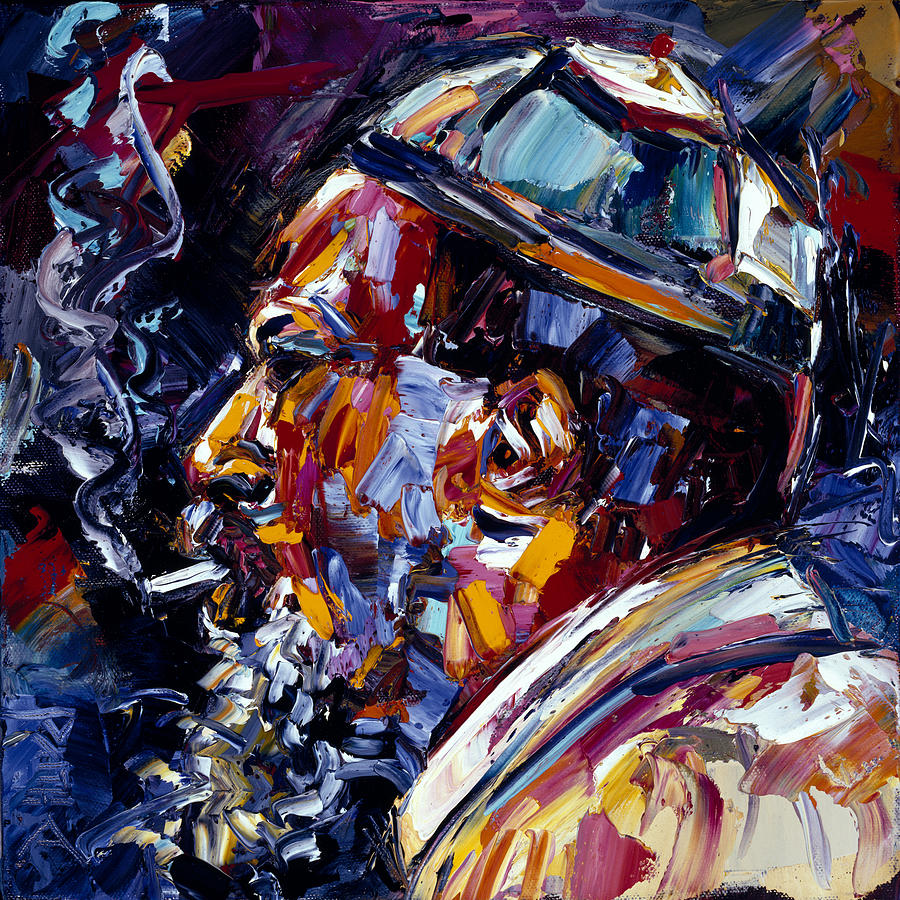 Thelonious Monk Painting - Thelonious Monk Jazz Faces series by Debra Hurd