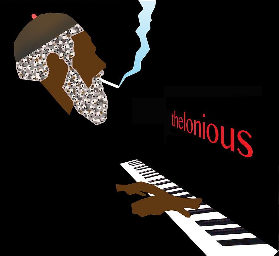 Jazz Digital Art - Thelonious Monk by Victor Bailey