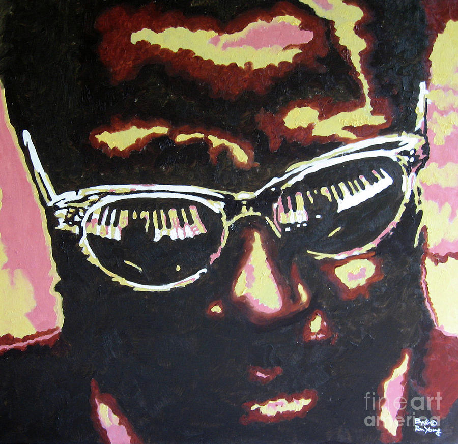 Jazz Painting - Thelonius Monk by Ronald Young