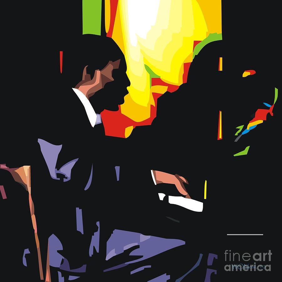 Male Portrait Digital Art - Thelonius Monk by Walter Oliver Neal