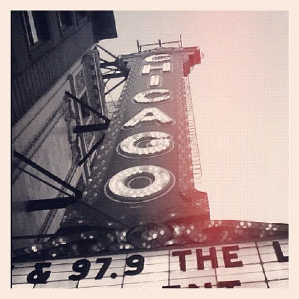 Walking Photograph - #theloop #chicago #chicagotheatre by Mike Maher