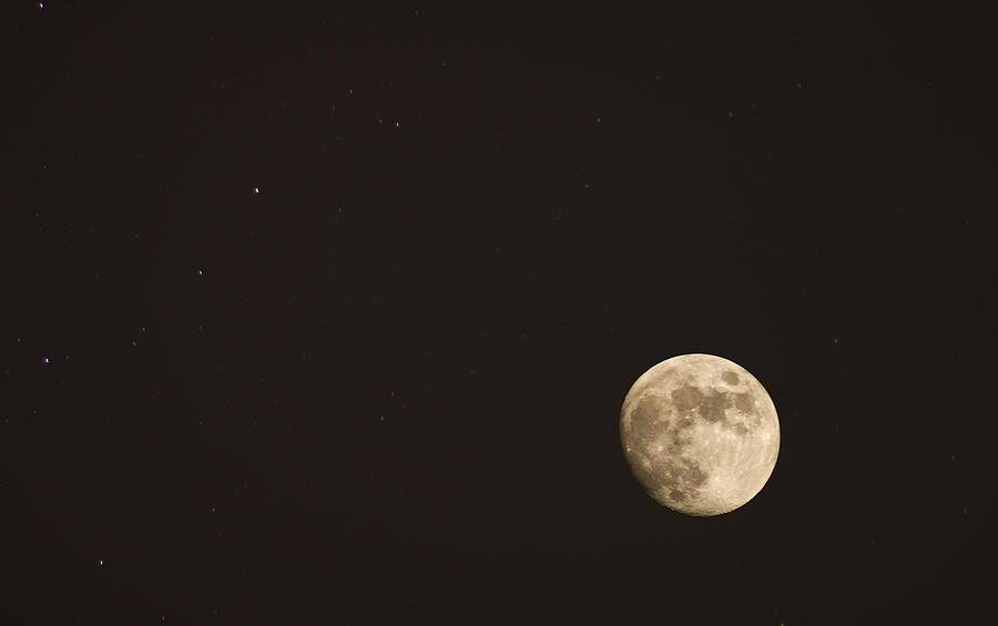 Sky Photograph - Themoon by Amr Miqdadi