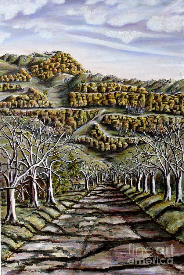 Oil Painting - Then And Now A New Beginning 2 by Linda  Steine