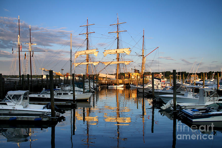 Tall Ship Photograph - Then And Now by Butch Lombardi