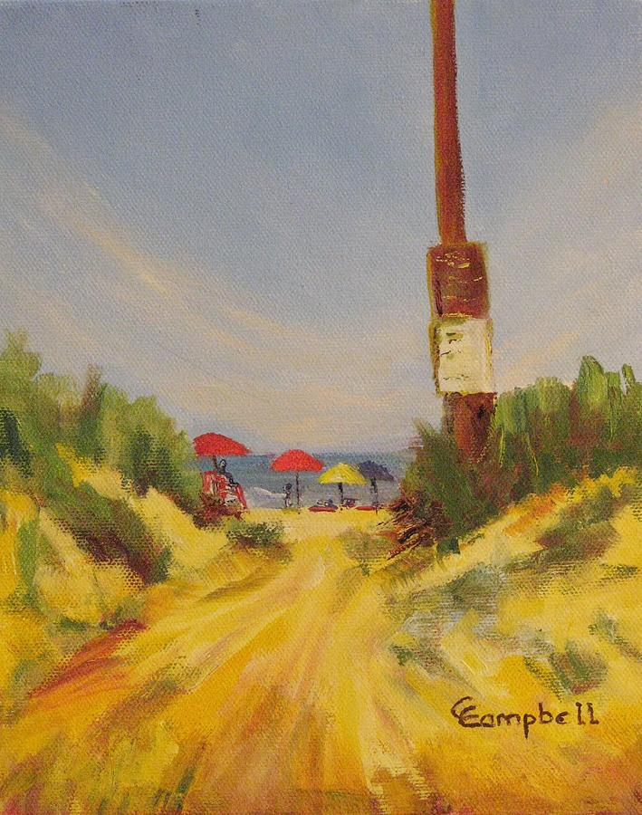 Beach Painting - Then theres the beach. by Cecelia Campbell