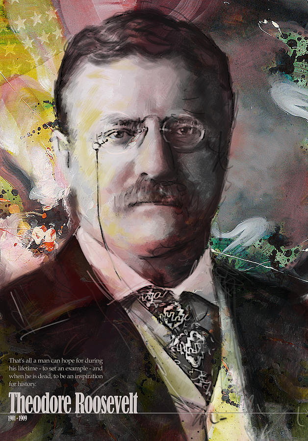 Theodore Roosevelt Painting - Theodore Roosevelt by Corporate Art Task Force