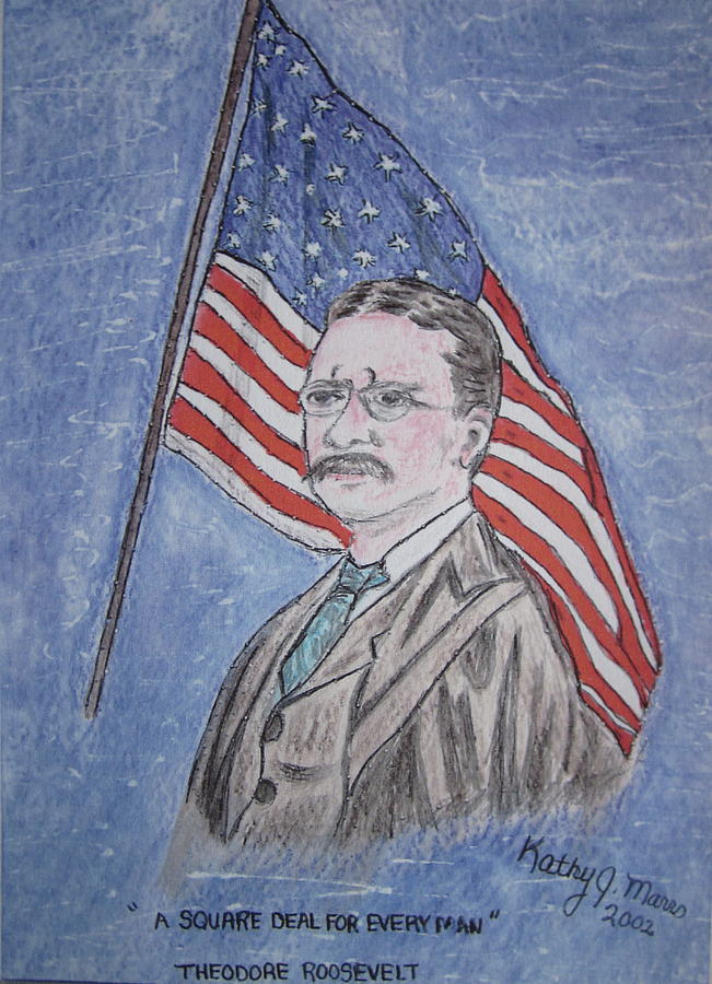 Theodore Roosevelt Painting - Theodore Roosevelt by Kathy Marrs Chandler