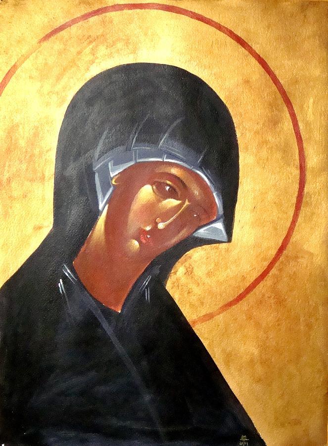 Icon Painting - Theotokos by Joseph Malham