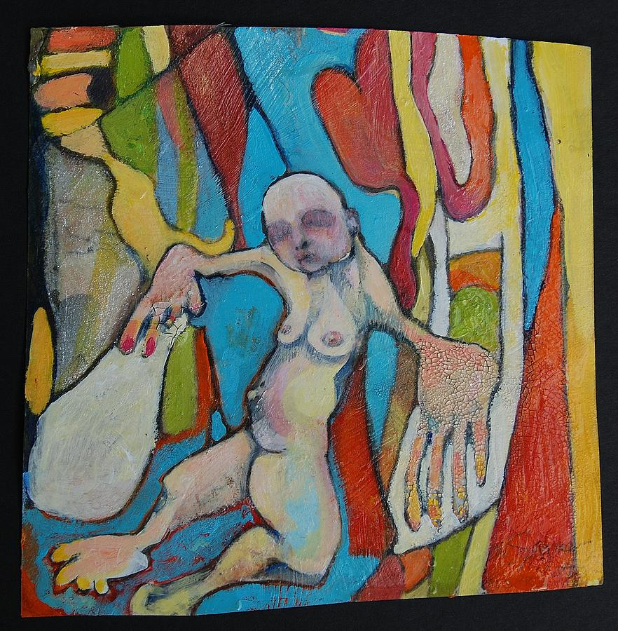 Body Dysmorphia Art On Paper And Canvas Painting - Therapy And Body Dysmorphia by Michelle Spiziri