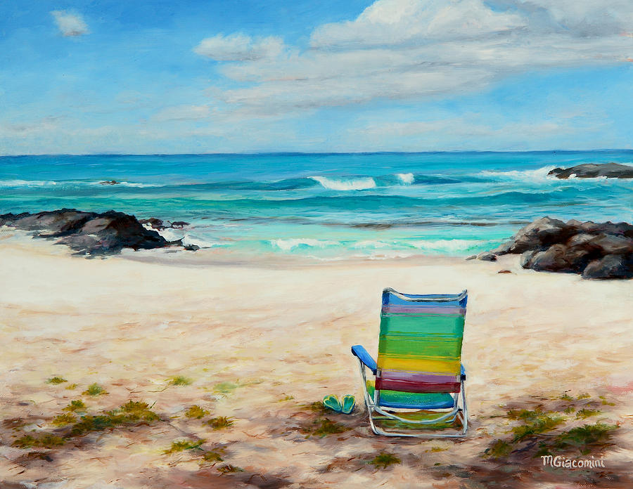 Beach Painting - Therapy by Mary Giacomini