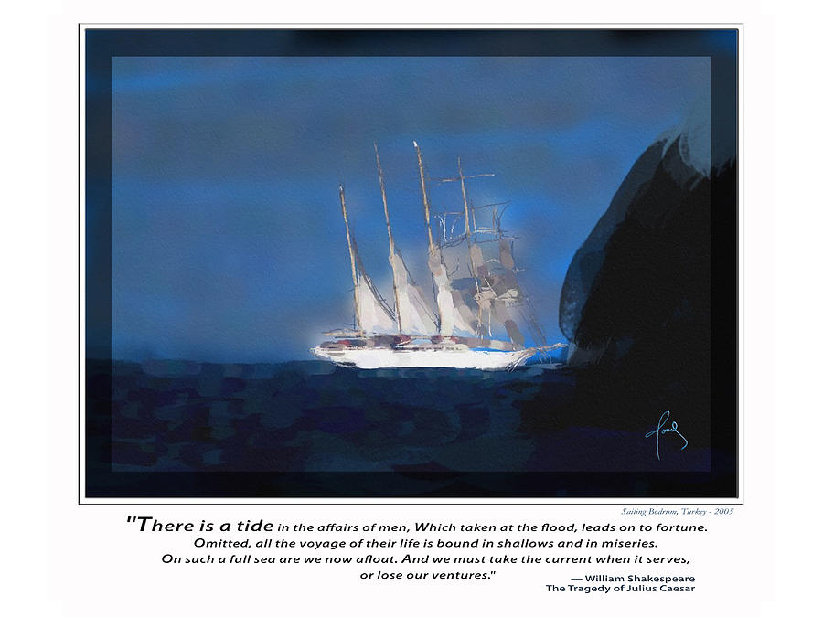 Nautical Paintings Painting - There Is A Tide by Josef Kelly