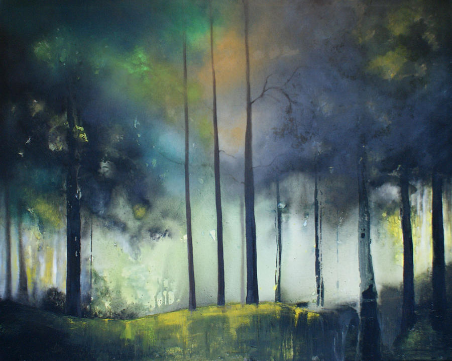 Woodland Painting - There Is Light At The End Of The Woods by Isabelle Amante