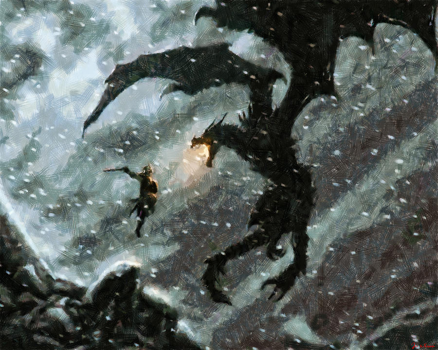 Skyrim Painting - There is no Fear by Joe Misrasi