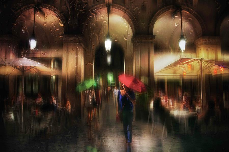 Umbrella Photograph - There Is Something In The Rain... by Charlaine Gerber