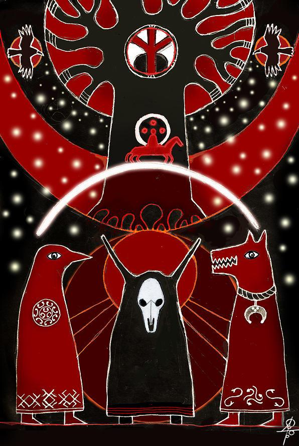 Slavic Mythology Digital Art - There Where The Sun Goes Down by Maxim Sukharev