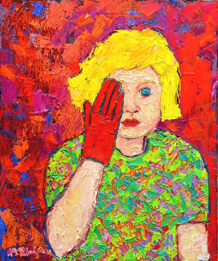 Girl Painting - Theres No Comfort In The Truth by Ana Maria Edulescu
