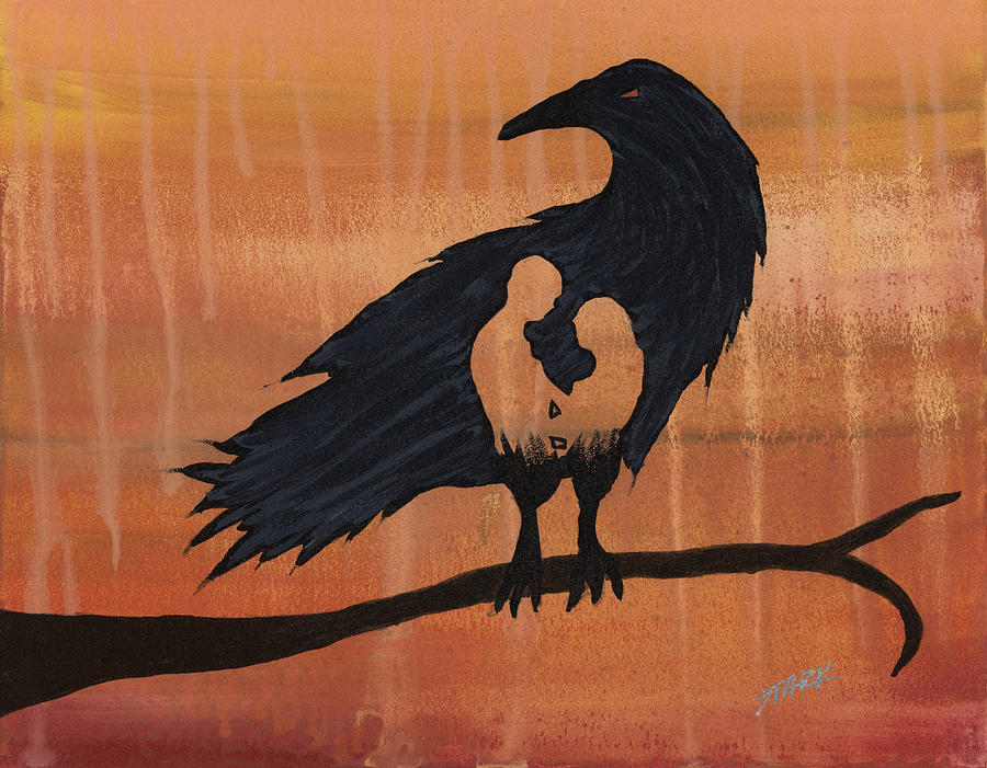 Blackbird Painting - These Do Not Belong To You by Jim Stark