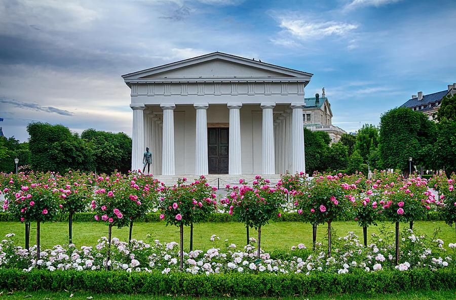 Vienna Photograph - Theseus Temple In Roses by Viacheslav Savitskiy