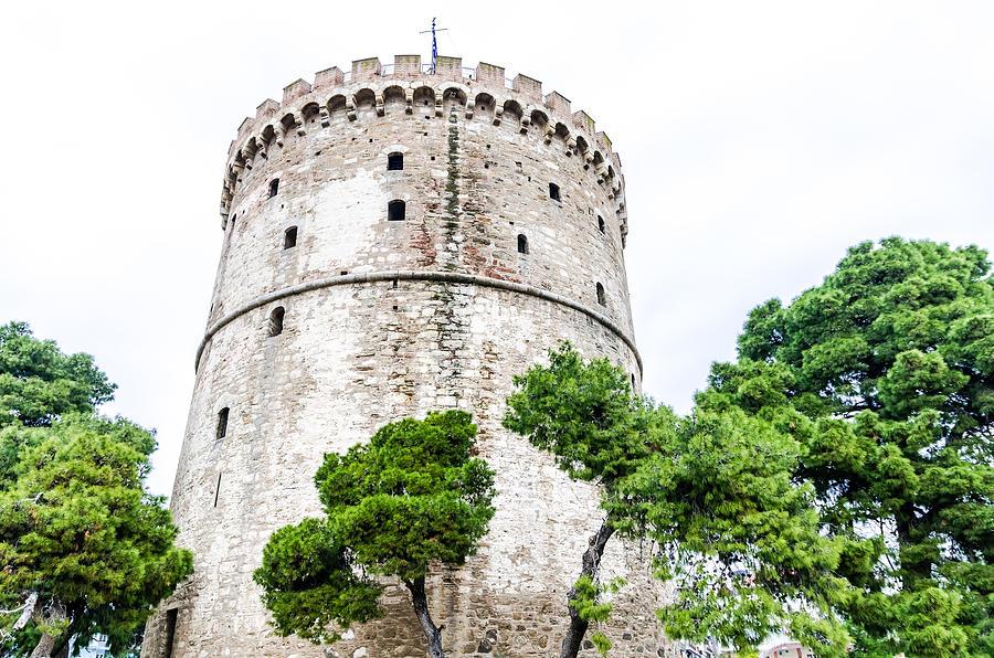 Historic Photograph - Thessaloniki Tower. by Slavica Koceva