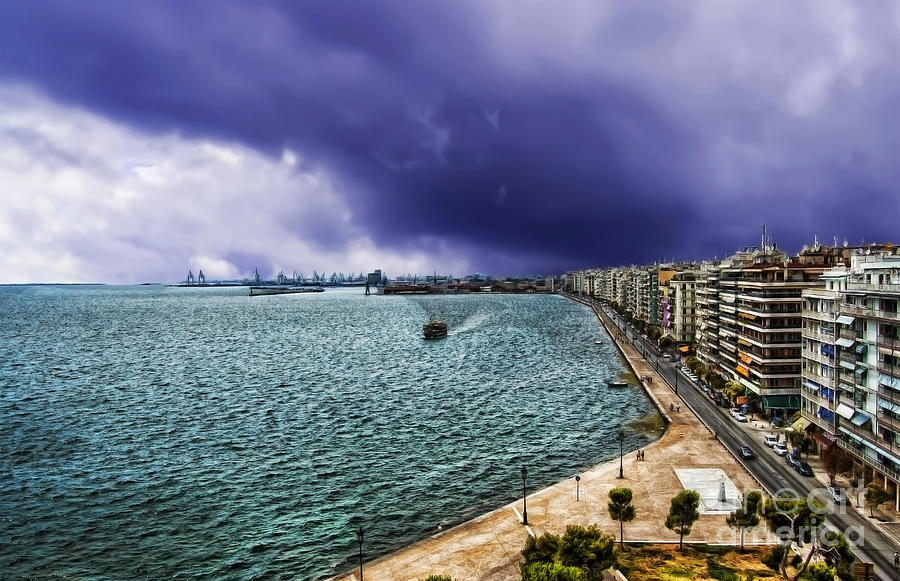 Thessaloniki View Of The Port And Part Of Citys Center Photograph