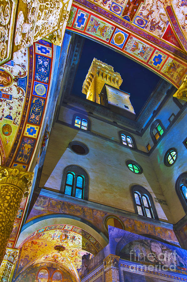 Florence Photograph - Viev From Courtyard Of Palazzo Vecchio Florence by Lilianna Sokolowska