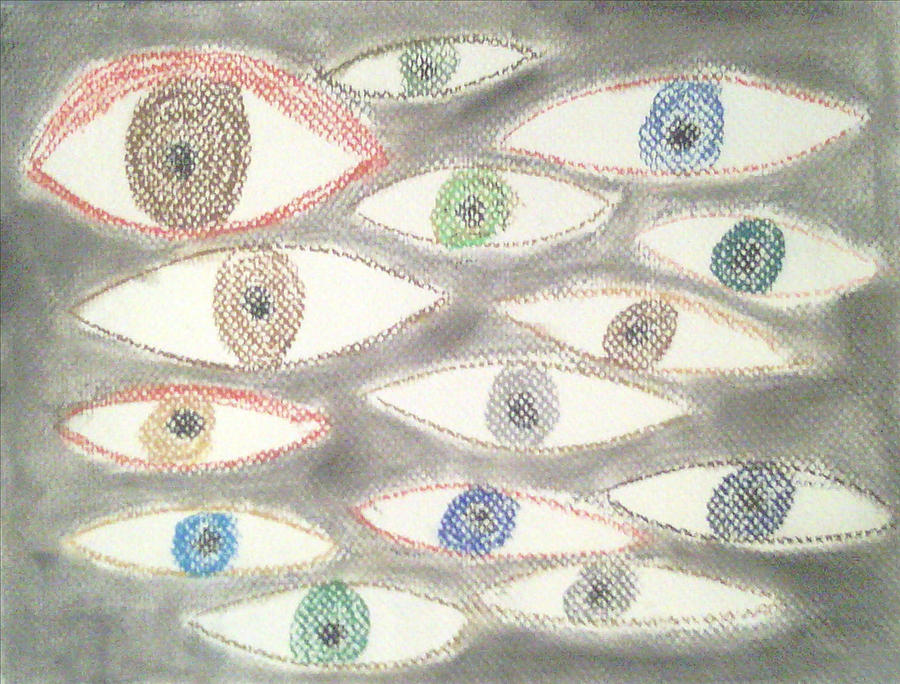 Eyes Pastel - They Are Watching You by Judith Moore